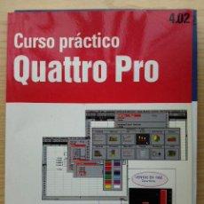Libros de segunda mano: CURSO PRACTICO QUATTRO PRO 4.02 Y CUESTIONARIO AUTOEVALUATIVO - IBM - INFORMATICA - PLANETA AGOSTINI. Lote 27043316