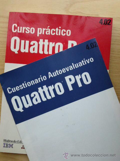 Libros de segunda mano: CURSO PRACTICO QUATTRO PRO 4.02 Y CUESTIONARIO AUTOEVALUATIVO - IBM - INFORMATICA - PLANETA AGOSTINI - Foto 2 - 27043316