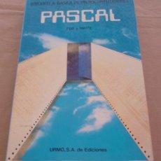 Libros de segunda mano: PASCAL - DAVID FOX Y MITCHELL WAITE - BIBLIOTECA BASICA MICROCOMPUTADORES.. Lote 22214837