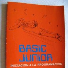 Libros de segunda mano: LIBRO INICIACIÓN A LA INFORMÁTICA. BASIC JUNIOR.. Lote 31721098