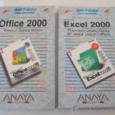 Libros de segunda mano: ANAYA/ EXCEL 2000, TOMO 1 Y 2. - FRANCISCO CHARTE OJEDA Y Mª JESÚS LUQUE CAÑADA. Lote 27103465