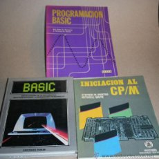 Libros de segunda mano: LOTE LIBROS RETRO INFORMATICA AÑOS 70 Y 80. INICIACION CP/M - PROGRAMACION BASIC - BASIC. Lote 26649748