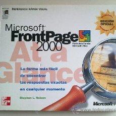 Libros de segunda mano: MICROSOFT FRONTPAGE 2000 POR STEPHEN L.NELSON. Lote 26279124