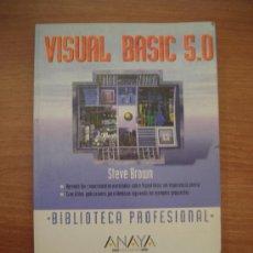 Libros de segunda mano: LIBRO VISUAL BASIC 5.0. BIBLIOTECA PROFESIONAL -ANAYA. Lote 26501851