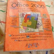 Libros de segunda mano: OFFICE 2000 ANAYA. Lote 27269814