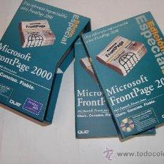 Libros de segunda mano: EDICIÓN ESPECIAL MICROSOFT FRONTPAGE 2000. VOLÚMENES I Y II. DOS TOMOS. NEIL RANDALL, DEN RM52617. Lote 28628874
