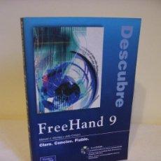 Libros de segunda mano: DESCUBRE FREEHAND 9 + CD-ROM. Lote 30213628