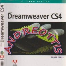 Libros de segunda mano: DREAMWEAVER CS4, EL LIBRO OFICIAL, AUTOR: ADOBE PRESS, EDITORIAL ANAYA MULTIMEDIA (2009), CON CD. Lote 32984339