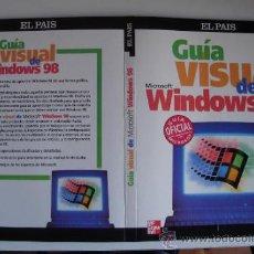 Libros de segunda mano: GUÍA VISUAL WINDOWS 98 DE MC GRAW HILL. EL PAIS. Lote 33808674