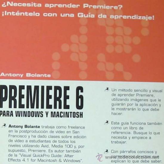 Libros de segunda mano: PREMIERE 6 PARA WINDOWS Y MACINTOSH - GUÍA DE APRENDIZAJE - PRENTICE HALL 2001 - VER ÍNDICE - Foto 2 - 34289912