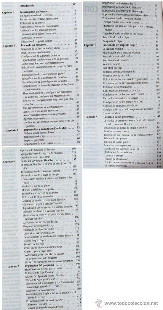 Libros de segunda mano: PREMIERE 6 PARA WINDOWS Y MACINTOSH - GUÍA DE APRENDIZAJE - PRENTICE HALL 2001 - VER ÍNDICE - Foto 3 - 34289912