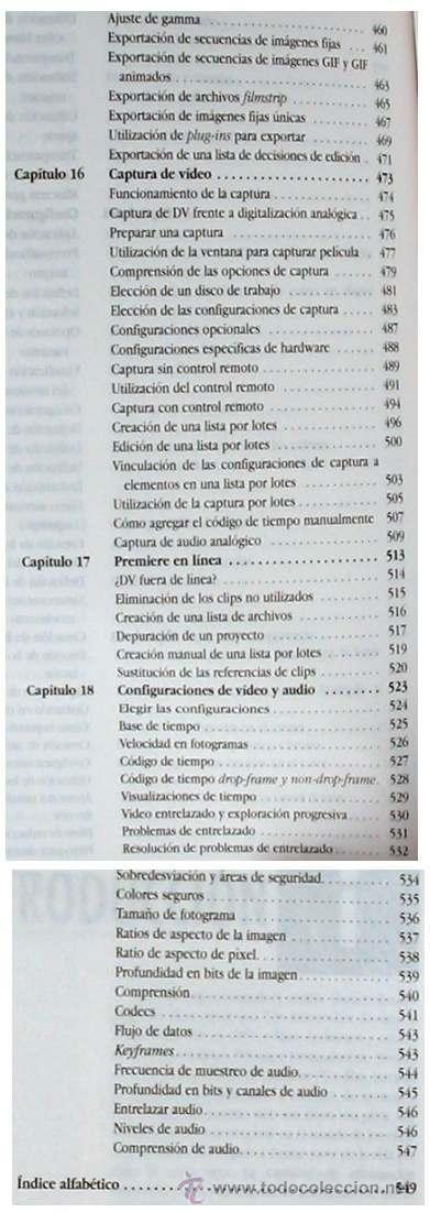 Libros de segunda mano: PREMIERE 6 PARA WINDOWS Y MACINTOSH - GUÍA DE APRENDIZAJE - PRENTICE HALL 2001 - VER ÍNDICE - Foto 5 - 34289912