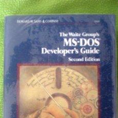 Libros de segunda mano: THE WAITE GROUP´S MS-DOS DEVELOPER´S GUIDE;HOWARD W.SAMS& COMPANY;THE WAITE GROUP 1989;¡NUEVO!. Lote 35566160