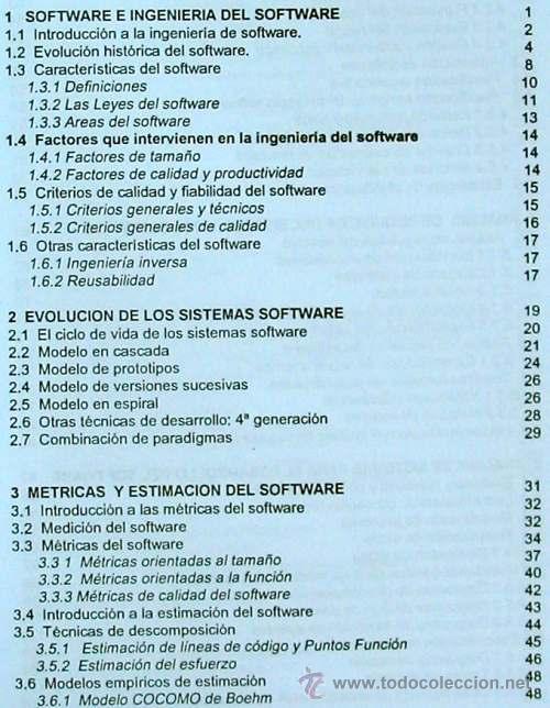 Libros de segunda mano: INGENIERÍA DEL SOFTWARE - UNIVERSIDAD POLITÉCNICA DE MADRID 1995 - 350 PÁGINAS - VER DESCRIPCIÓN - Foto 2 - 38062593