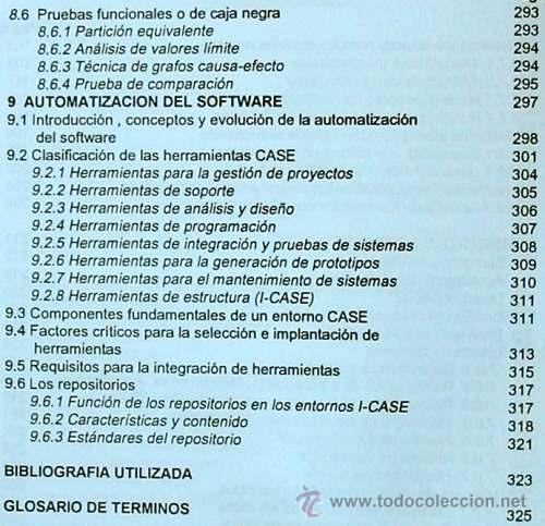 Libros de segunda mano: INGENIERÍA DEL SOFTWARE - UNIVERSIDAD POLITÉCNICA DE MADRID 1995 - 350 PÁGINAS - VER DESCRIPCIÓN - Foto 5 - 38062593