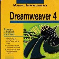 Libros de segunda mano: DREAMWEAVER 4. ANAYA. 2001. Lote 38224750