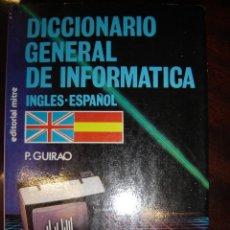 Libros de segunda mano: DICCIONARIO GENERAL DE INFORMÁTICA, INGLÉS-ESPAÑOL. Lote 39665525