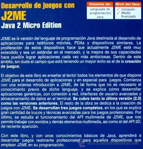 Libros de segunda mano: DESARROLLO DE JUEGOS CON J2ME - JAVA 2 MICRO EDITION - RA-MA 2005 - VER ÍNDICE - Foto 2 - 41117093