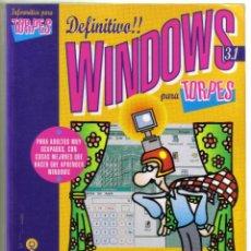 Libros de segunda mano: WINDOWS PARA TORPES. ANAYA 1994. LITERACOMIC.. Lote 41689646