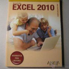 Libros de segunda mano: MICROSOFT OFFICE EXCEL 2010. ANA MARTOS RUBIO. ANAYA. 128 PGS. INFORMATICA PARA MAYORES.. Lote 41971704