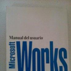 Libros de segunda mano: MANUAL DEL USUARIO - MICROSOFT WORKS PARA WINDOWS. Lote 42050366