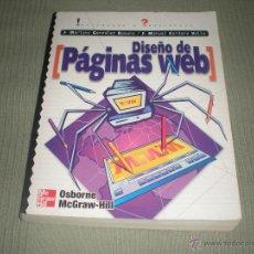 Libros de segunda mano: DISEÑO DE PÁGINAS WEB . MC GRAW HILL . MARIANO GONZALEZ - J.MANUEL CORDERO. Lote 42052283