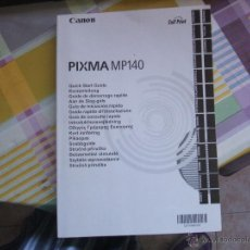 Libros de segunda mano: CANON PIXMA MP 140 - MANUAL - GUÍA DE CONSULTA RÁPIDA. Lote 42057853