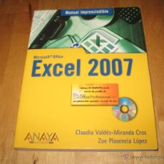 Libros de segunda mano: LIBRO CURSO MICROSOFT OFFICE EXCEL 2007 MANUAL IMPRESCINDIBLE ANAYA MULTIMEDIA INCLUYE CD-ROM. Lote 42179664