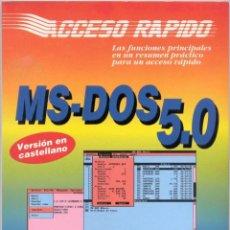 Libros de segunda mano: MS-DOS 5.0. Lote 42894441