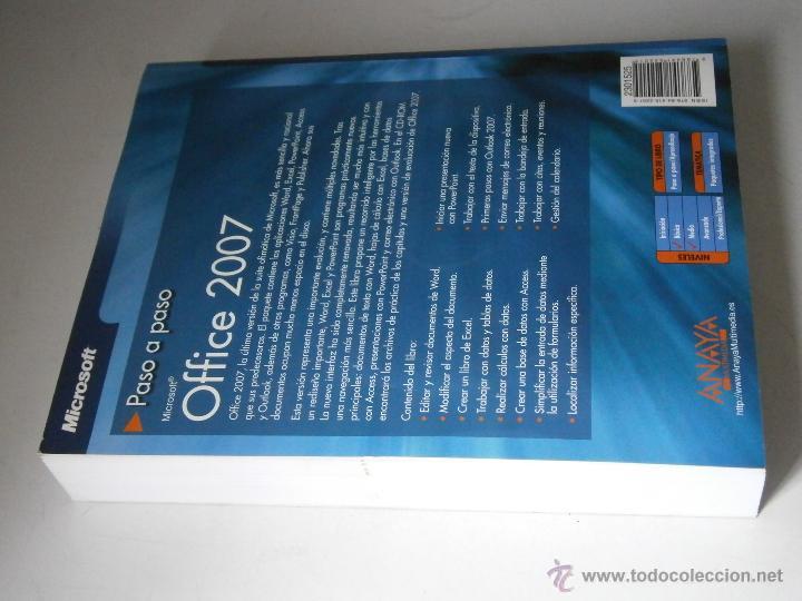 Libros de segunda mano: OFFICE 2007 ANAYA 2007 INCLUYE CD - Foto 4 - 43261156
