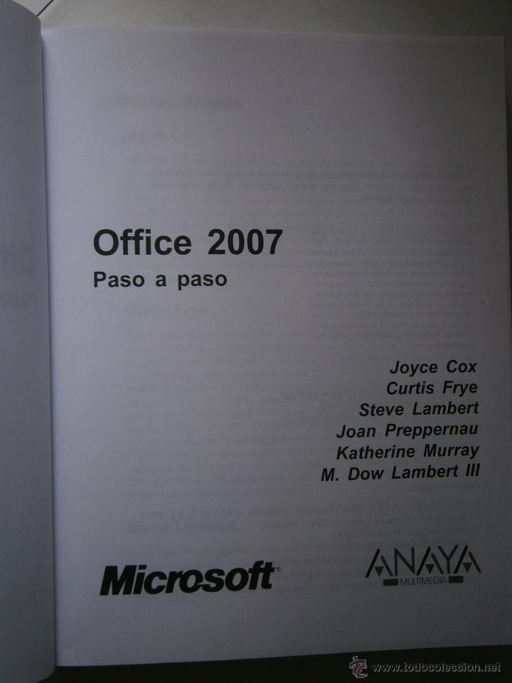 Libros de segunda mano: OFFICE 2007 ANAYA 2007 INCLUYE CD - Foto 6 - 43261156