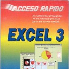 Libros de segunda mano: EXCEL 3. Lote 43277543