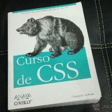 Libros de segunda mano: LIBRO CURSO DE CSS. Lote 43869241
