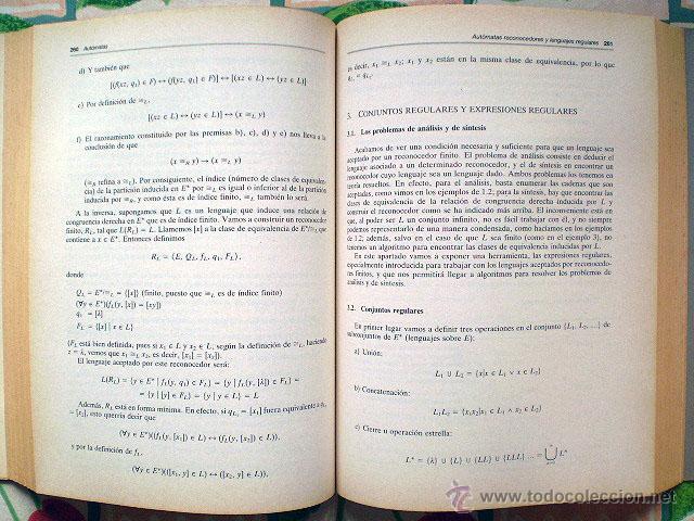 Libros de segunda mano: G. Fernández, F.S. Vacas: Fundamentos de Informática (Alianza Editorial, 1ª Edición) Muy buen estado - Foto 5 - 43930270