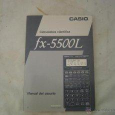 Libros de segunda mano: MANUAL PARA CALCULADORA CASIO FX-5500L UN ESTUPENDO MANUAL EN ESPAÑOL Y EN INGLES DE LA CALCULADORA . Lote 44062633