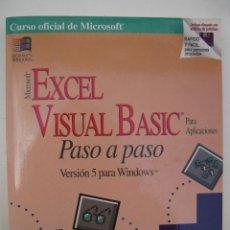 Libros de segunda mano: MICROSOFT EXCEL VISUAL BASIC PASO A PASO - VERSIÓN 5 PARA WINDOWS - REED JACOBSON - AÑO 1995.. Lote 44389714
