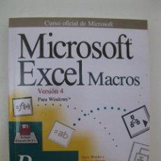 Libros de segunda mano: MICROSOFT EXCEL MACROS VERSIÓN 4 PASO A PASO - STEVE WEXLER Y JULIANNE SHARER - ANAYA - AÑO 1993.. Lote 44390132