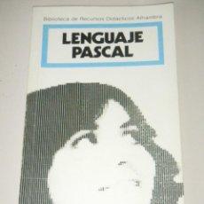 Libros de segunda mano: IÑI LIBRO.LENGUAJE PASCAL. BIBLIOTECA DE RECURSOS DIDÁCTICOS ALHAMBRA.1986. 1ª EDICIÓN.BOOK.ÉPSILON.. Lote 45218447
