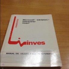 Libros de segunda mano: MANUAL USUARIO - INVES. Lote 46654695