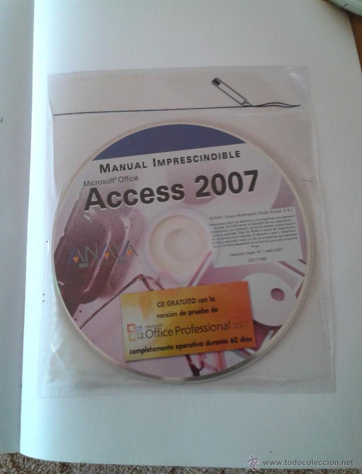 Libros de segunda mano: ACCESS 2007 - INCLUYE CD - Foto 2 - 47029379