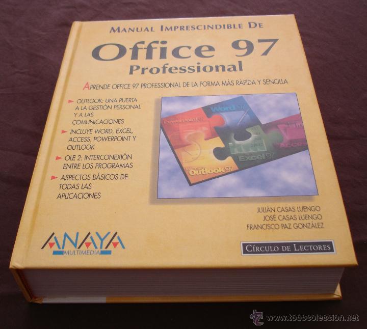 MANUAL IMPRESCINDIBLE DE OFFICE 97, PROFESIONAL - ANAYA - CÍRCULO DE LECTORES - 1998. (Libros de Segunda Mano - Informática)