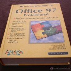 Libros de segunda mano: MANUAL IMPRESCINDIBLE DE OFFICE 97, PROFESIONAL - ANAYA - CÍRCULO DE LECTORES - 1998.. Lote 47914303