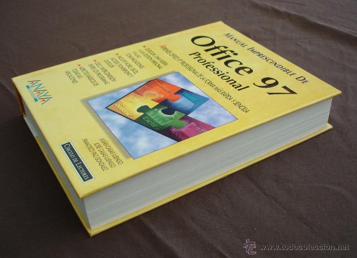 Libros de segunda mano: MANUAL IMPRESCINDIBLE DE OFFICE 97, PROFESIONAL - ANAYA - CÍRCULO DE LECTORES - 1998. - Foto 3 - 47914303