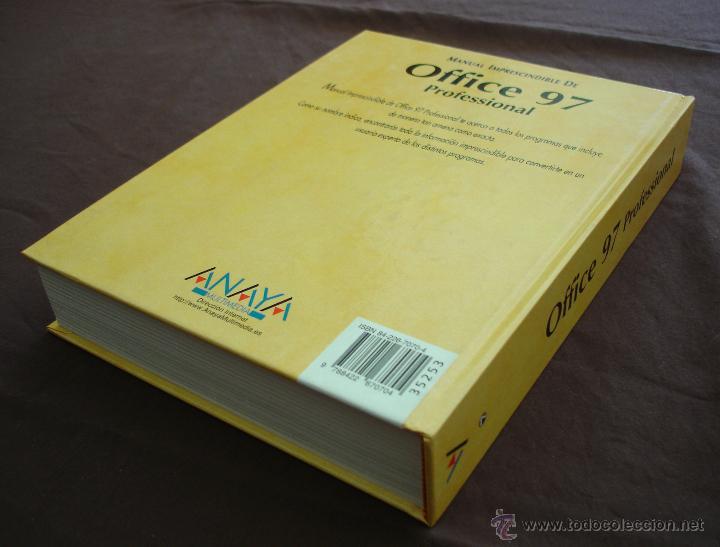 Libros de segunda mano: MANUAL IMPRESCINDIBLE DE OFFICE 97, PROFESIONAL - ANAYA - CÍRCULO DE LECTORES - 1998. - Foto 4 - 47914303