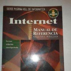 Libros de segunda mano: INTERNET MANUAL DE REFERENCIA 1996 HARLEY HAHN 2º ED. SERIE MCGRAW-HILL DE INFORMÁTICA. Lote 48002709