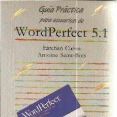 Libros de segunda mano: WORD PERFECT 5. 1. ESTEBAN CUEVA. ANAYA. MADRID. 1992. Lote 48138332
