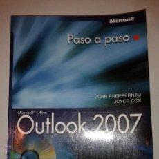 Libros de segunda mano: OUTLOOK 2007 PASO A PASO 2007 JOAN PREPPERNAU Y JOYCE COX ANAYA MULTIMEDIA SIN CD. Lote 48362109