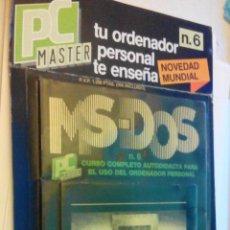 Livres d'occasion: MS-DOS - CURSO COMPLETO AUTODIDACTA PARA EL USO DEL ORDENADOR PERSONAL - JACKSON HISPANIA - Nº 6. Lote 48968435