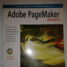 Libros de segunda mano: ADOBE PAGEMAKER VERSIÓN 6.5 1998 ED. ANAYA MULTIMEDIA DISEÑO Y CREATIVIDAD INCLUYE CD-ROM. Lote 49030906