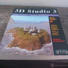 Libros de segunda mano: 3D STUDIO 3 GENERE IMAGENES Y ESCENAS INFOGRAFICAS EN SU PC.ANAYA MULTIMEDIA 1995.NO TRAE DISQUETE. Lote 49248381
